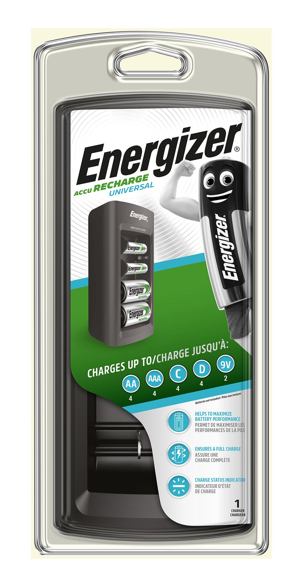 Univerzální nabíječka baterií Energizer Universal (LED indikace)