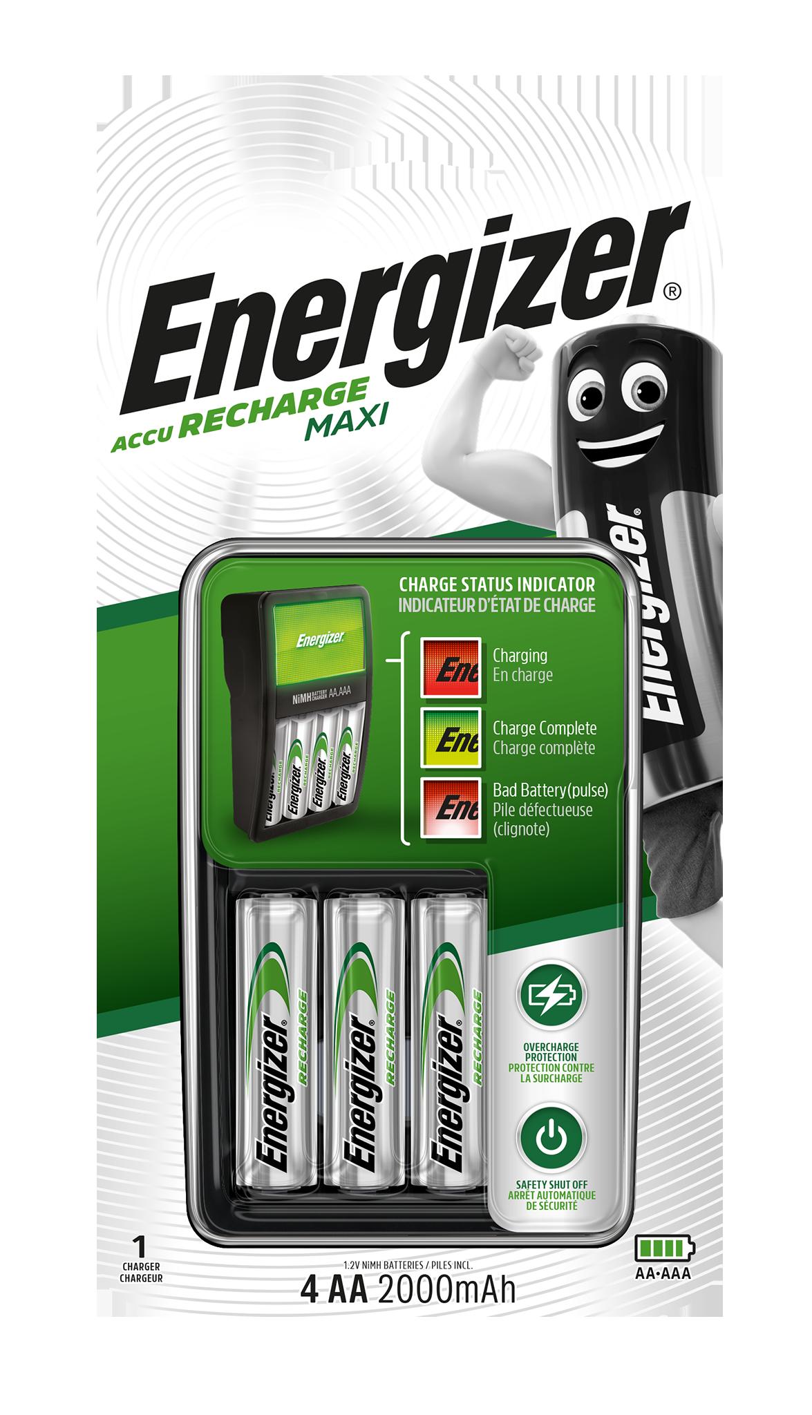 Nabíječka Energizer MAXI + 4 AA Energizer 2000mAh