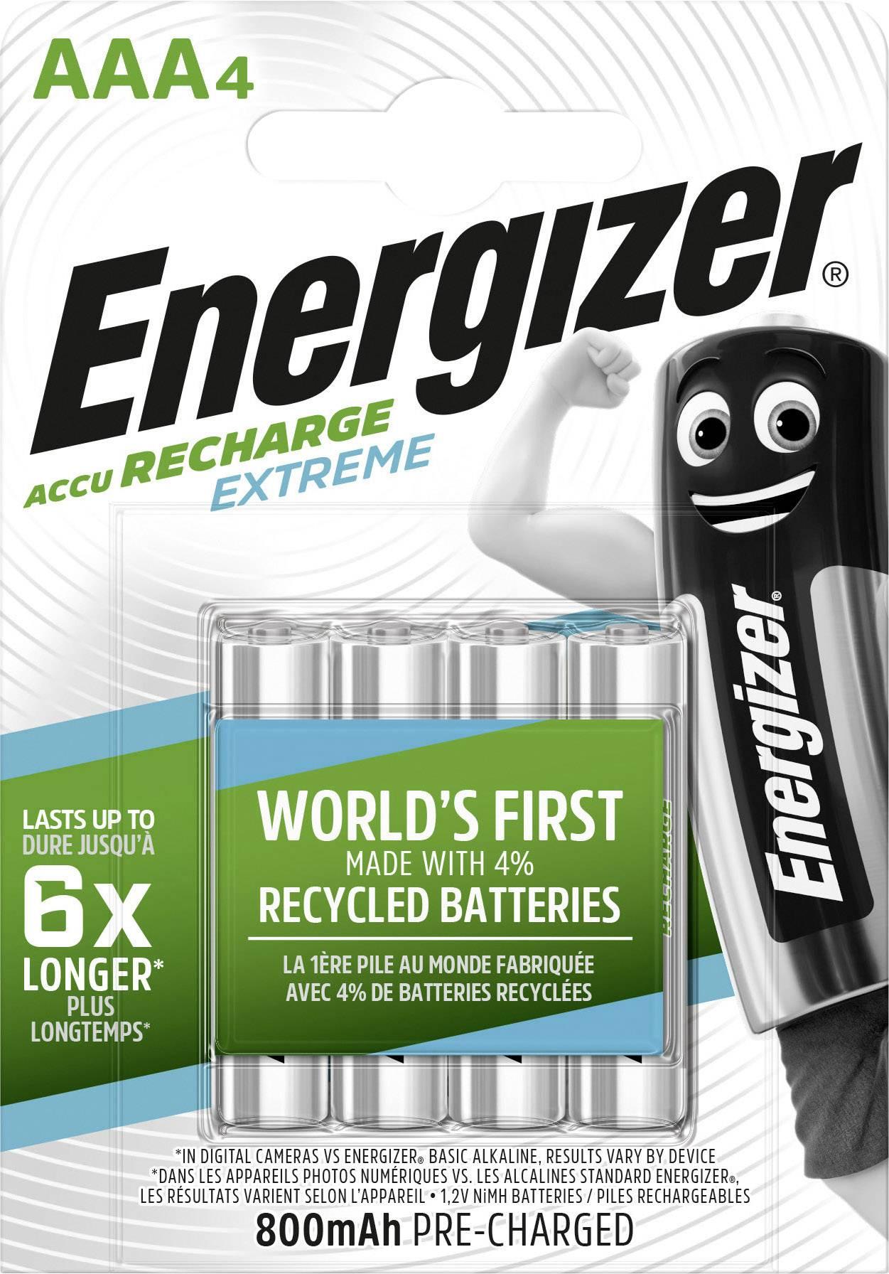 Baterie AAA/HR03 800mAh ENERGIZER EXTREME, 4 ks (blistr)