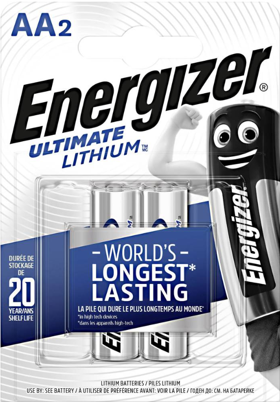 Baterie AA/FR6 ENERGIZER Ultimate LITHIUM L91, 2 ks (blistr)