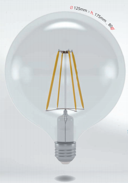 LED GLOBE 10W E27 G125 SKYLIGHTING, koule, 3000K