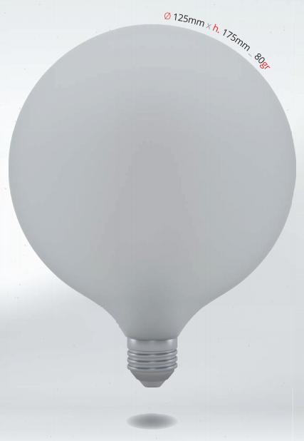 LED GLOBE 10W E27 G125 SKYLIGHTING matná koule, studená bílá
