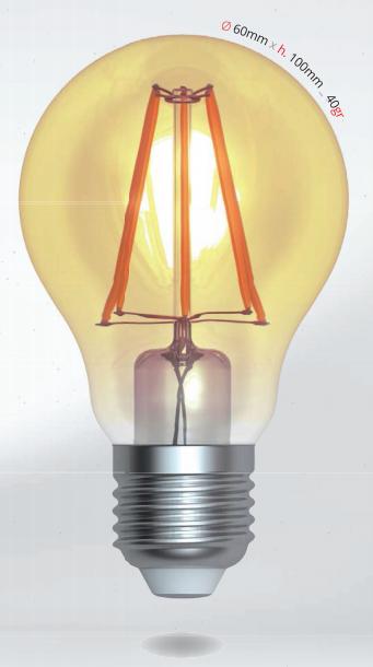 LED žárovka 4W (35W) E27 SKYLIGHTING, čirá, teplá bílá 2200K