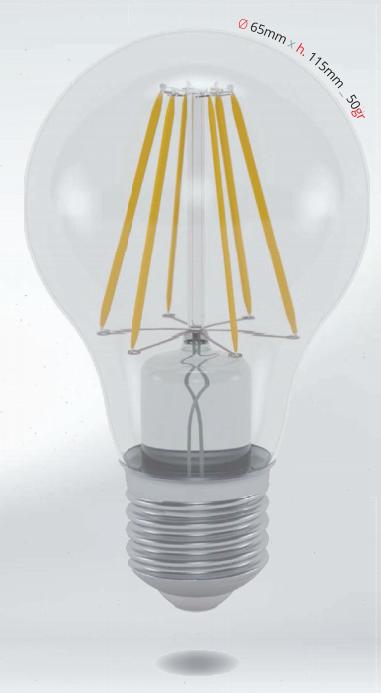 LED žárovka 10W (80W) E27 SKYLIGHTING, čirá, teplá bílá