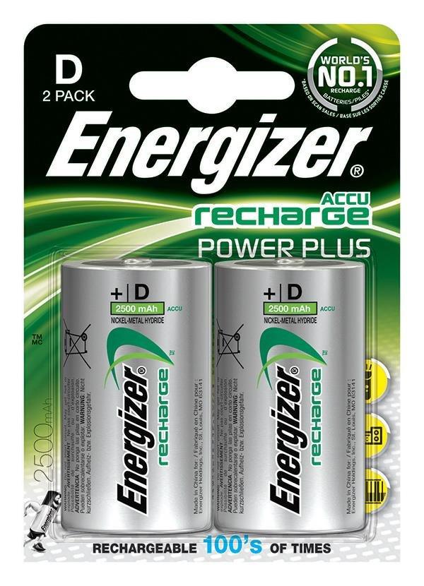 Baterie HR20/D 2500mAh ENERGIZER, 2 ks (blistr)