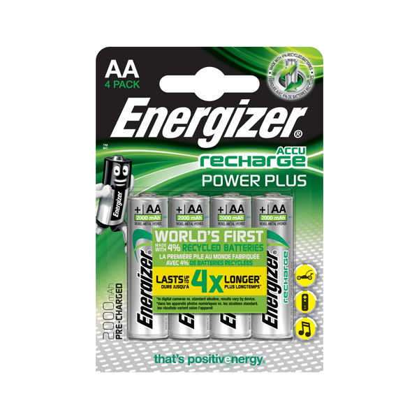 Baterie AA/HR6 2000mAh ENERGIZER POWER PLUS, 4 ks (blistr)