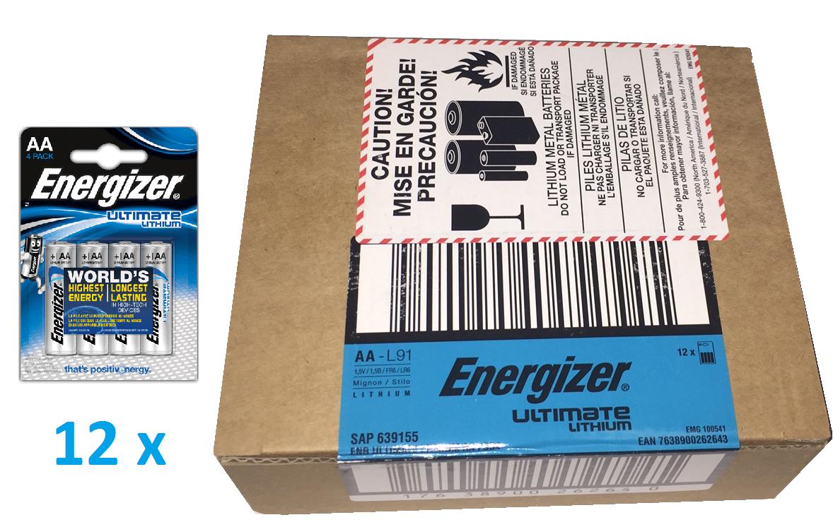 Baterie AA/FR6 ENERGIZER Ultimate LITHIUM, 48 ks (karton)
