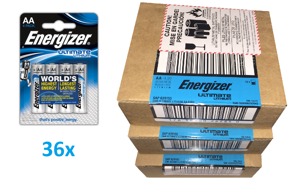 Baterie Energizer Ultimate LITHIUM FR6 AA 144ks