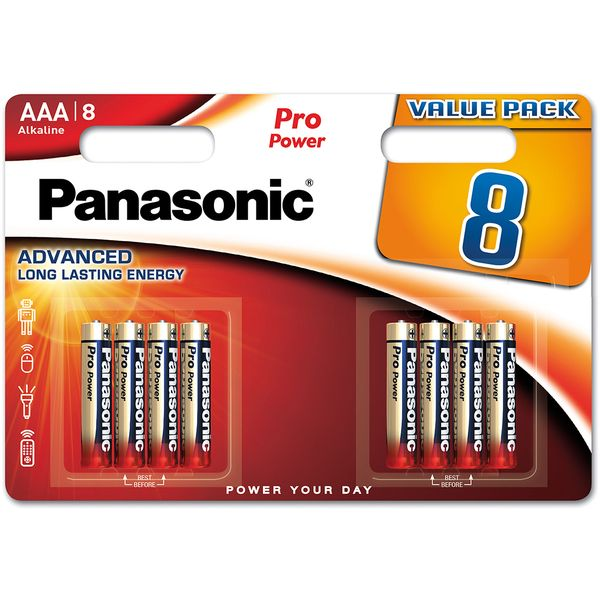 Baterie AAA/LR03 PANASONIC Pro Power, 8 ks (blistr)