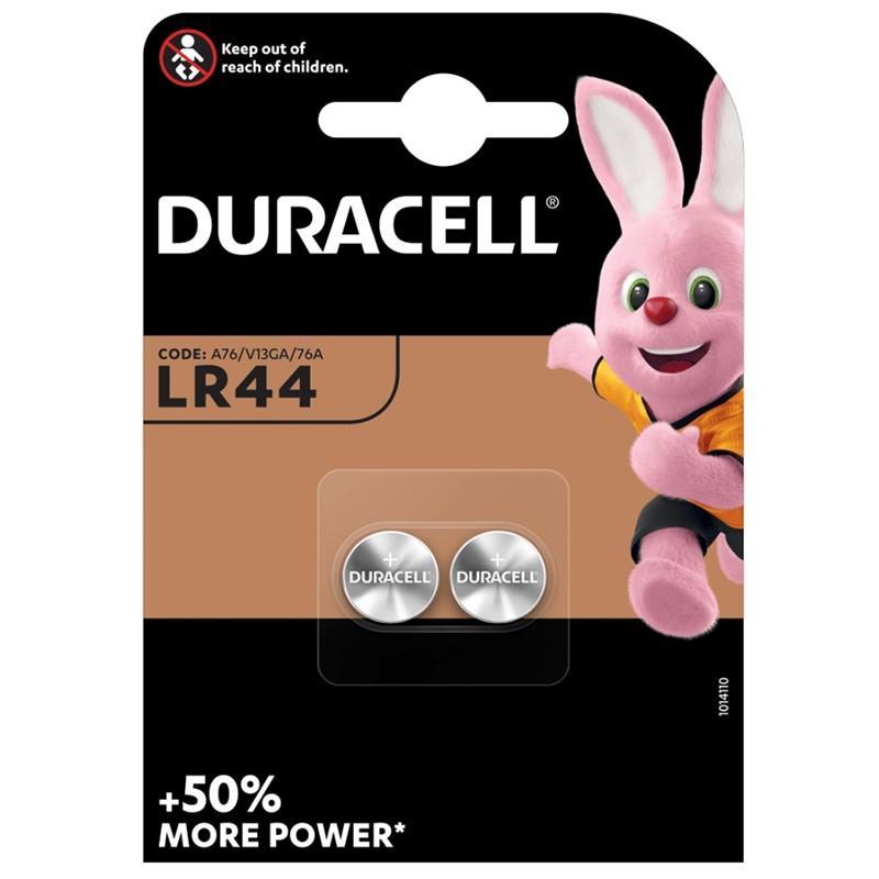 Baterie LR44/A76 DURACELL, 2 ks (blistr)