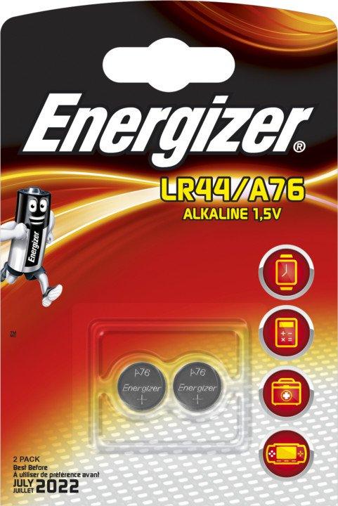 Baterie LR44/A76 ENERGIZER, 2 ks (blistr)