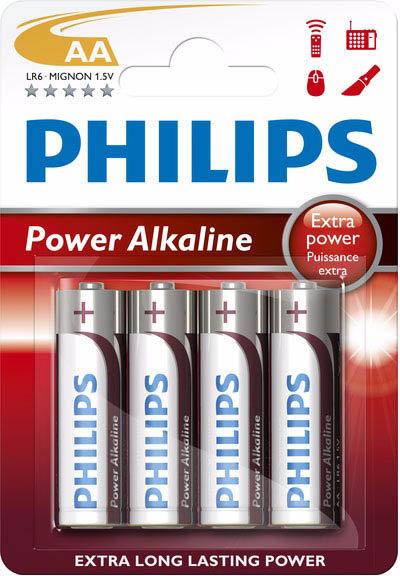 Baterie Philips Power Life AA LR6 4 ks