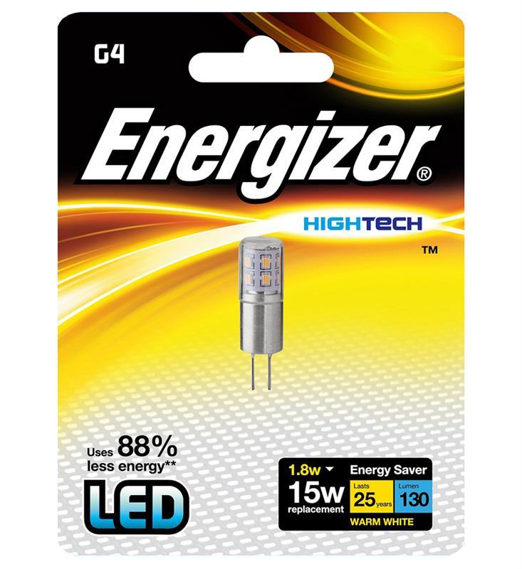 LED G4 1,8W, ENERGIZER, teplá bílá