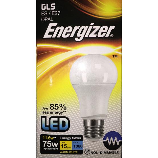 LED žárovka 11,6W E27 ENERGIZER, teplá bílá (2700K)