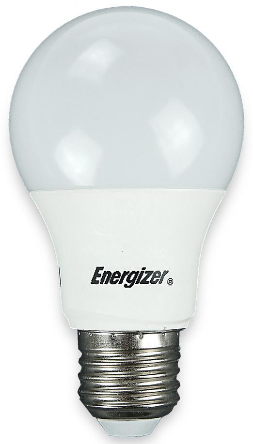 LED žárovka 5,6W (40W) E27 ENERGIZER, teplá bílá