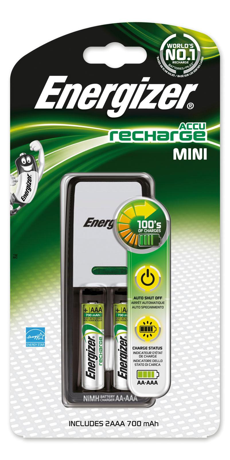 Nabíječka Energizer Charger Mini + 2 AAA 700mAh