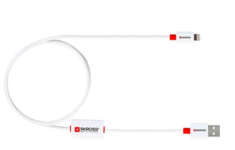 SKROSS alarm USB kabel SKROSS BUZZ Lightning Connector, akustické upozornění, délka 1m, pro nabíjení a přenos dat