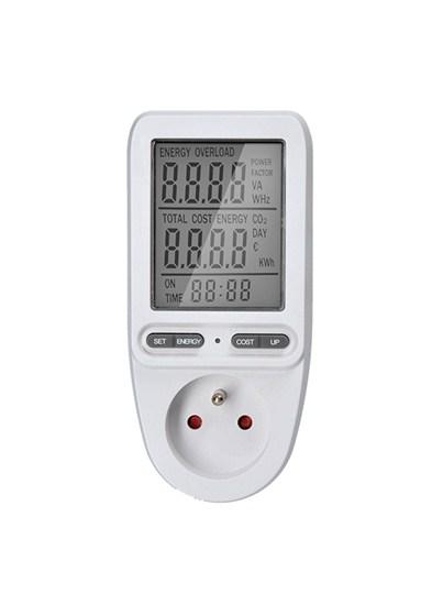 Solight digitální měřič spotřeby el. energie, velký displej