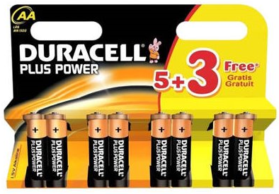 Baterie Duracell PLUS POWER AA LR6 8 ks