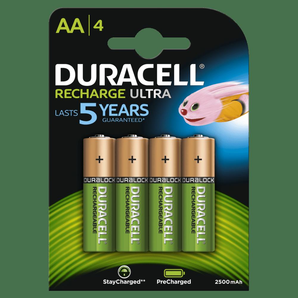 Baterie AA/HR6 2500mAh DURACELL RECHARGE ULTRA, 4 ks (blistr)