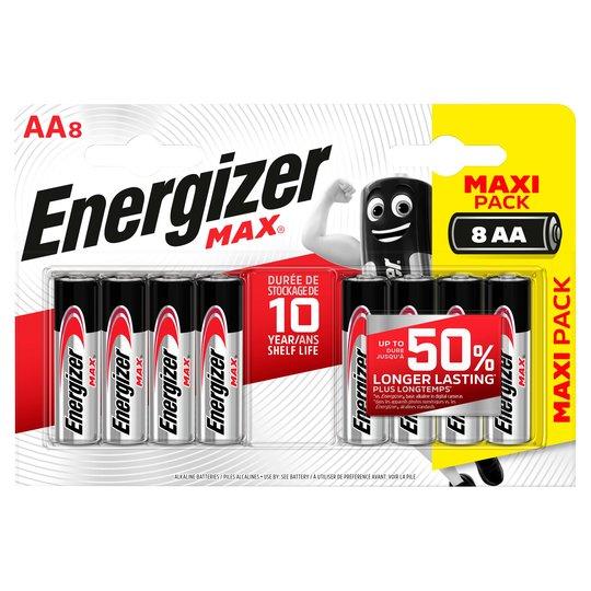 Baterie AA/LR6 ENERGIZER MAX+ PowerSeal 4+4 (blistr)
