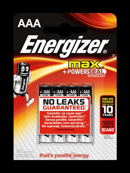 Baterie AAA/LR03 ENERGIZER MAX+ PowerSeal, 4 ks (blistr)