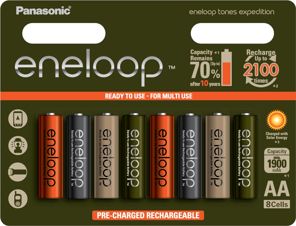 Baterie AA 1900mAh Panasonic ENELOOP EXPEDITION, 8 ks (blistr)