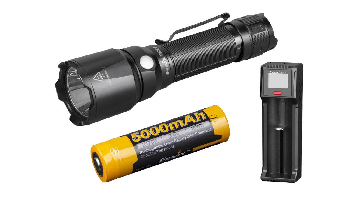 Svítilna Fenix TK22 V2.0 + nabíjecí sada 5000 mAh