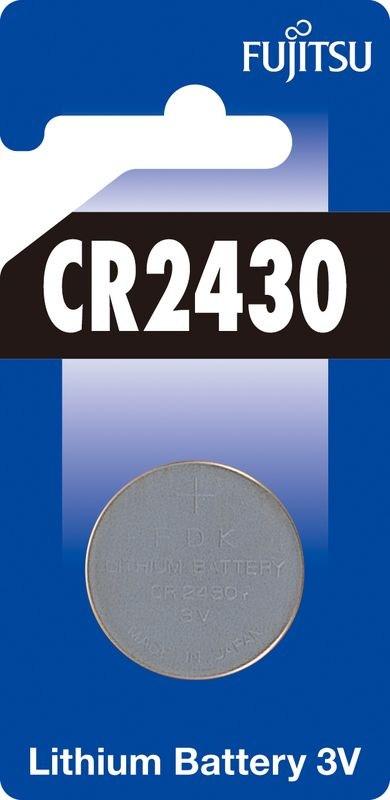 Fujitsu knoflíková lithiová baterie CR2430, blistr 1ks