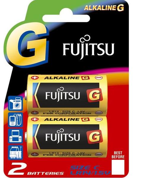 Fujitsu alkalická baterie LR14/C, blistr 2ks