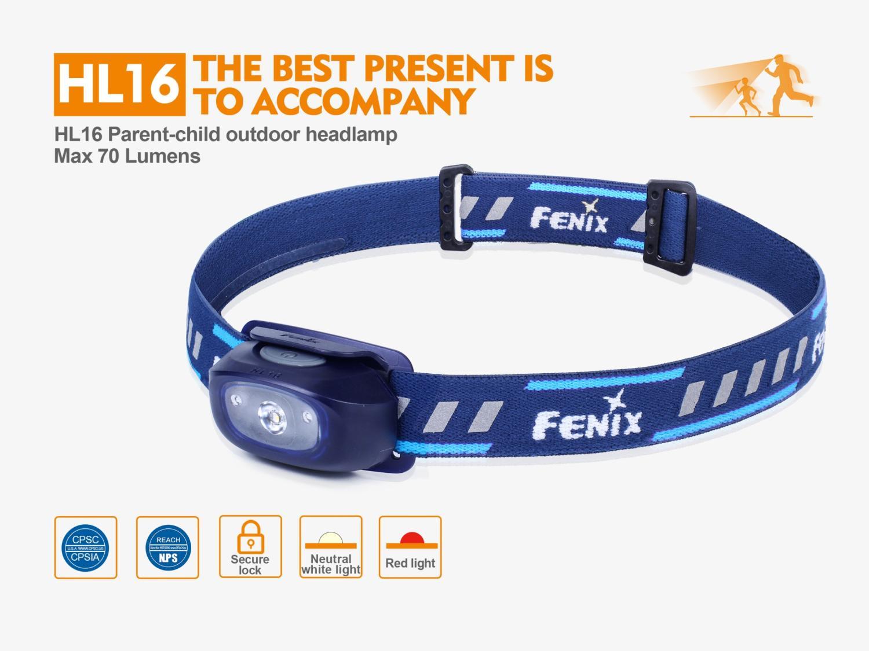 LED čelovka Fenix HL16 - modrá