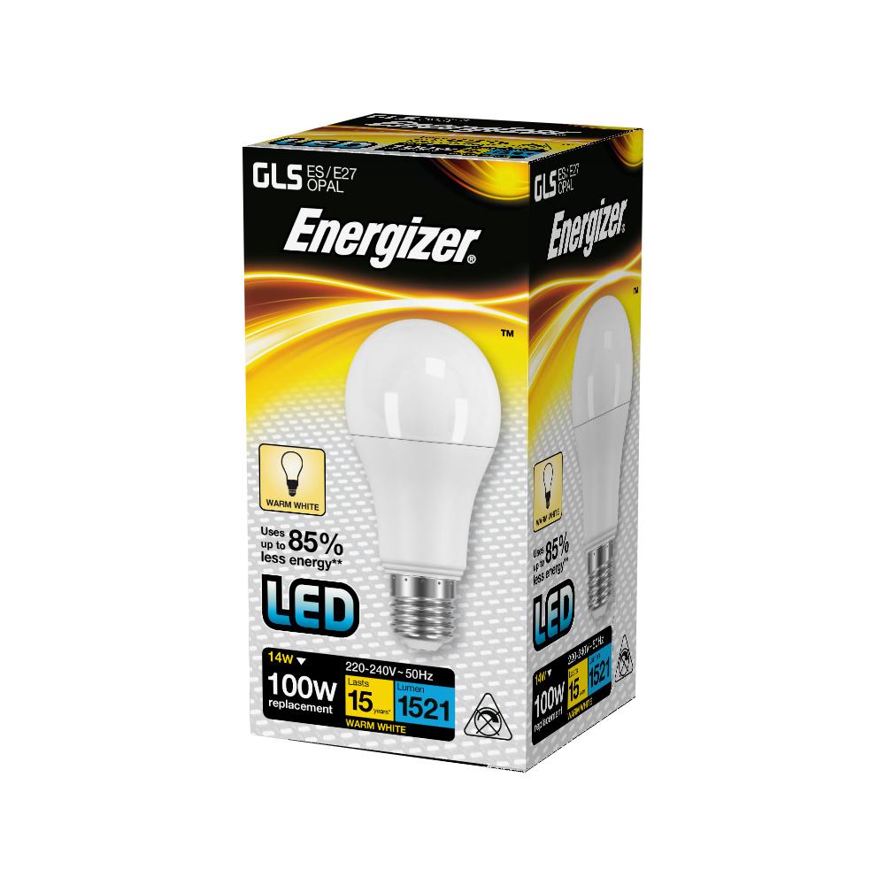 LED žárovka 14W (100W) E27 ENERGIZER, teplá bílá
