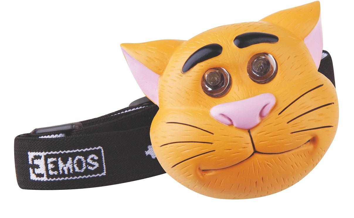 LED čelovka dětská kočka, EMOS