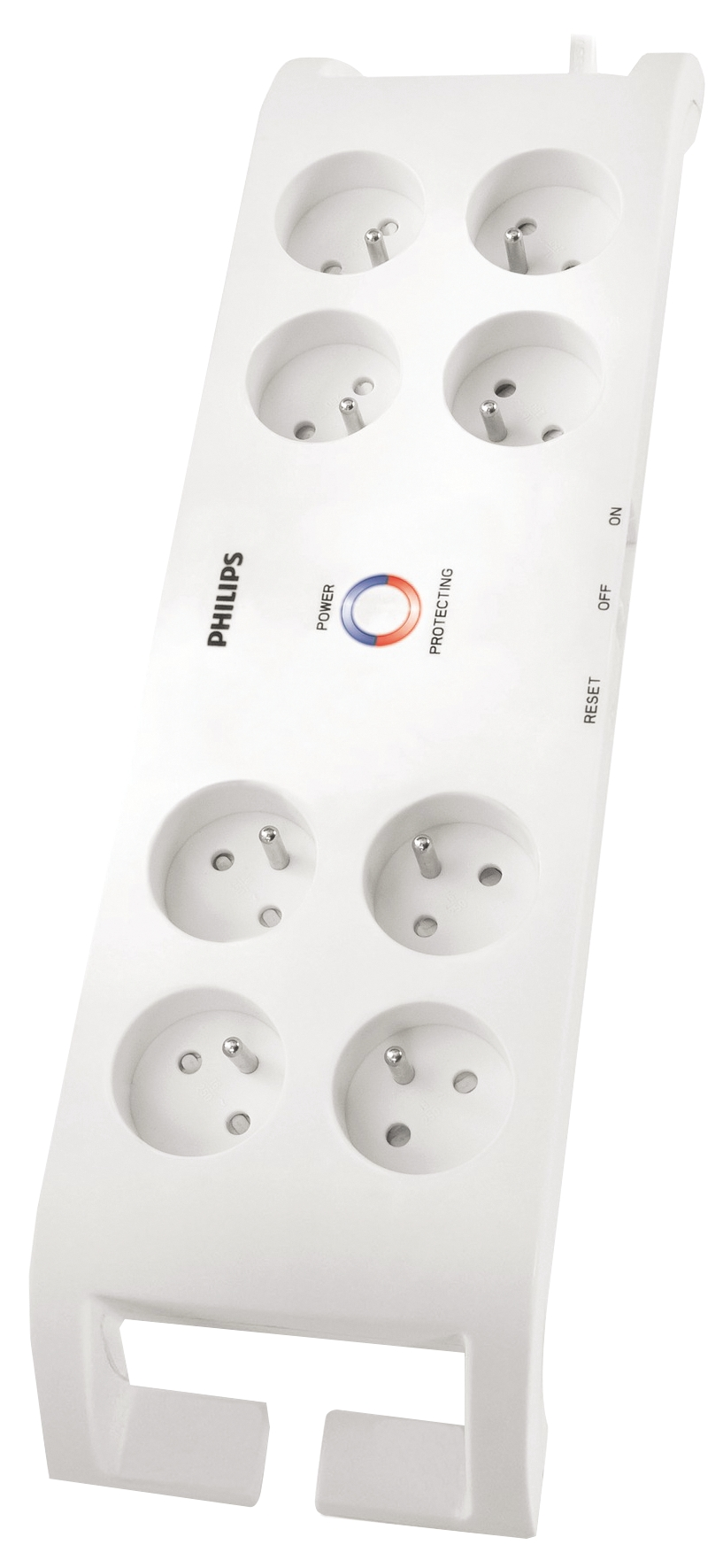 Přepěťová ochrana 900J, 8 zásuvky, 2m, bílá, PHILIPS
