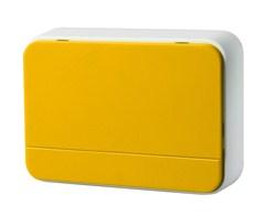 Solight bezdrátový zvonek, 120m, nastavení hlasitosti, žlutý, 2 x AA baterie