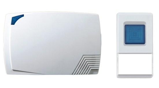 Solight bezdrátový zvonek, bateriový, 80m, bílý