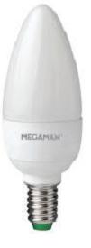 LED svíčka 5,5W (40W) E14 MEGAMAN, teplá bílá