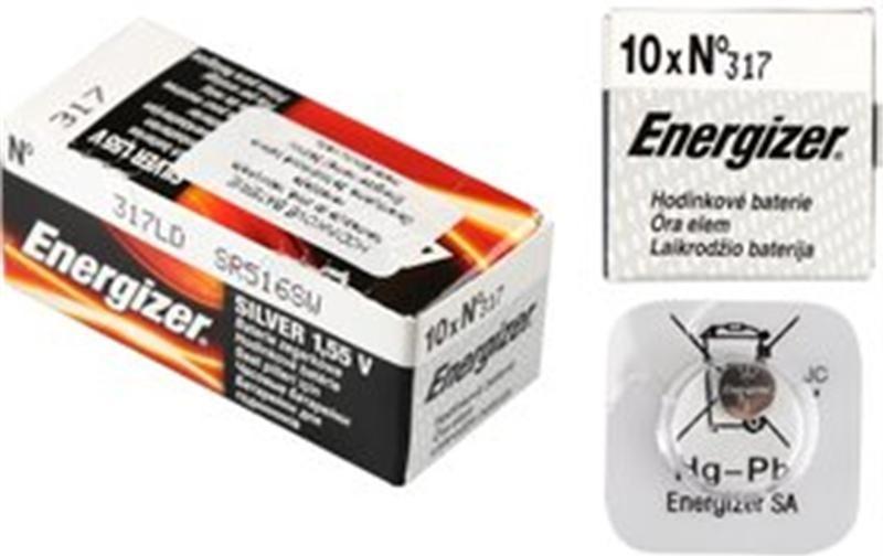 Baterie 317/SR516 ENERGIZER, 1 ks (blistr)