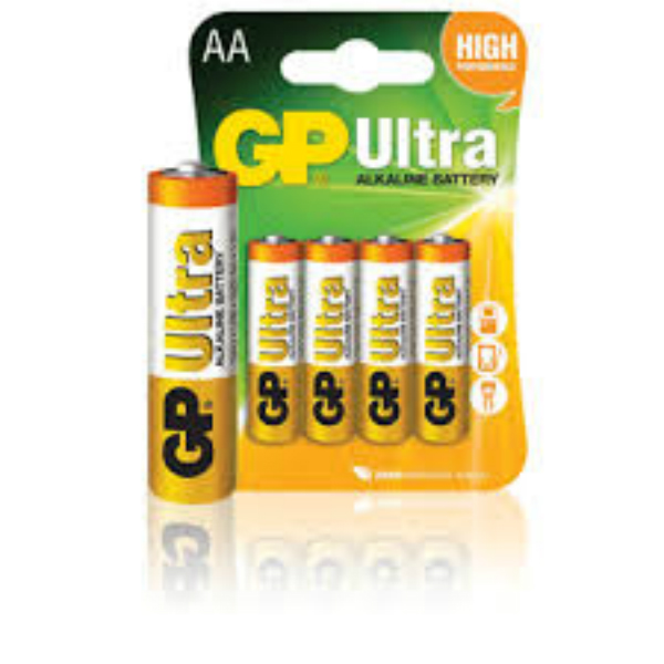 Baterie AA/LR6 GP Ultra Alkaline, 4 ks (blistr)