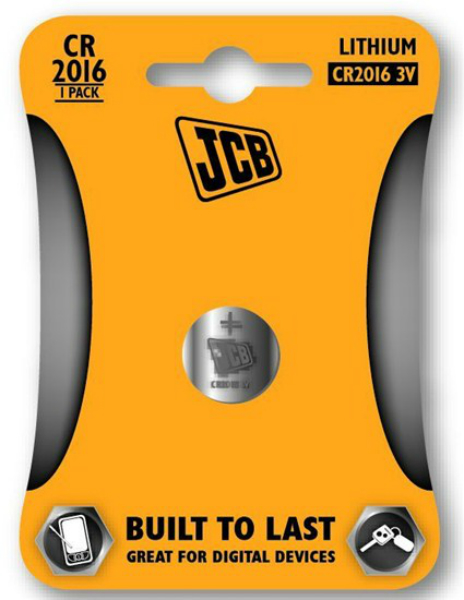 JCB knoflíková lithiová baterie CR2016, blistr 1 ks