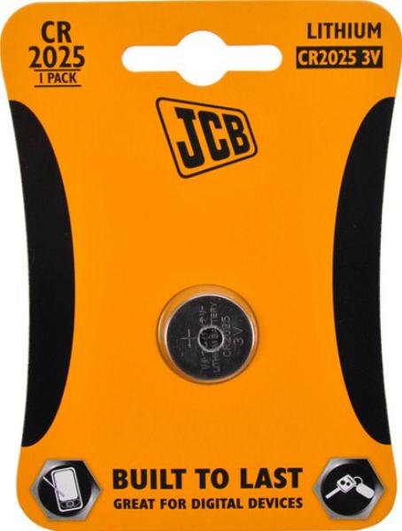 JCB knoflíková lithiová baterie CR2025, blistr 1 ks
