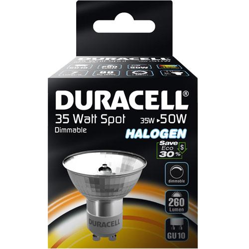 Halogenová žárovka 35W (50W) GU10, DURACELL ECO, bodovka
