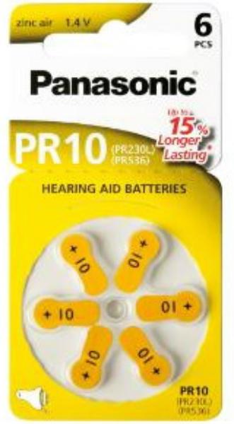 Baterie PANASONIC PR 10 6 ks (blistr)