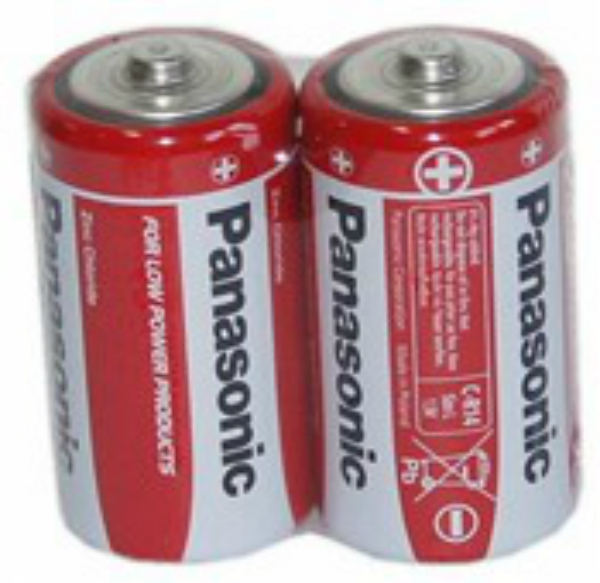 Baterie R14/C Panasonic, 2 ks (shrink)