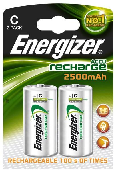 Baterie HR14/C 2500mAh ENERGIZER NiMH, 2 ks (blistr)
