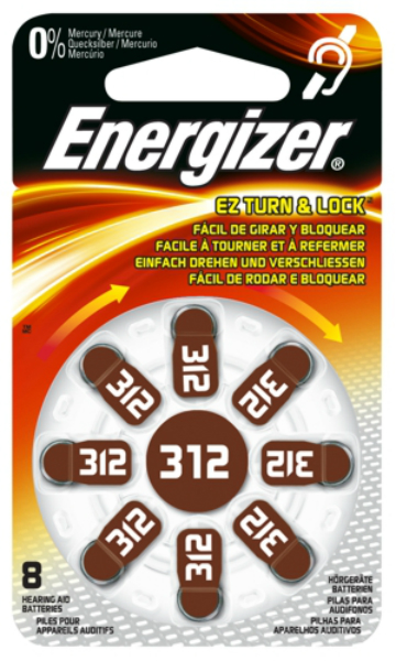Baterie 312 ENERGIZER, 8 ks (blistr)