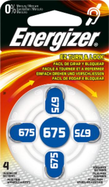 Baterie 675 ENERGIZER, 4 ks (blistr)