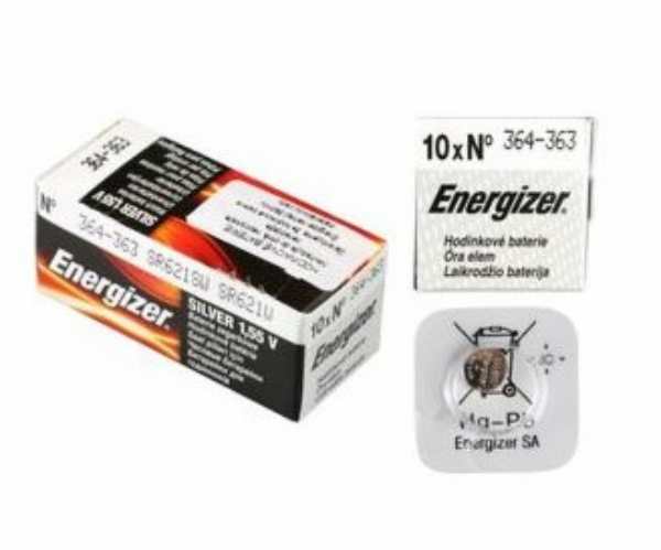Baterie 364/363/SR621 ENERGIZER, 1 ks (blistr)