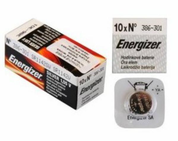 Baterie 386/301/SR43 ENERGIZER, 1 ks (blistr)
