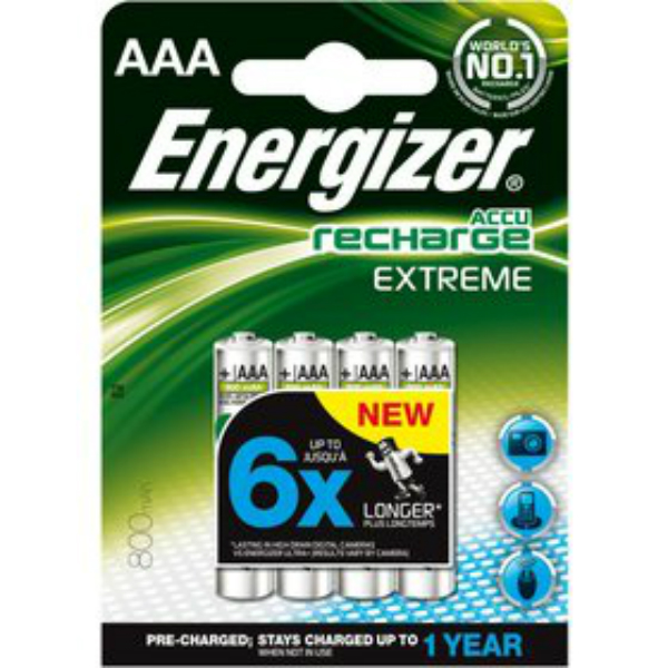 Baterie AAA 800mAh ENERGIZER EXTREME, 4 ks (blistr)